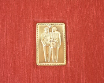 Lined guest book  Men's wedding milagro guest book terra  cotta -8x9in 20x23cm -  Ready to ship