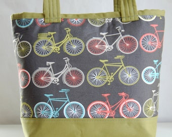 Bikes Fabric Tote Bag - READY TO SHIP