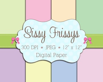 INSTANT DOWNLOAD - Spring Pastels Digital Paper Pack - Personal Use and Commercial Use - Digital Background - 91651408