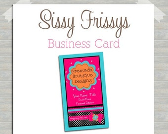 Business Card - Digital File - Business Card File - Earring Card - Jewelry Card - Hang Tag - Mom Card - Play Date Card - 205352355