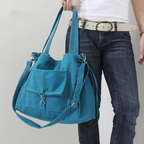 Halloween SALE - 20% OFF EZ in Teal / Sling bag / diapers bag / Shoulder Bag / School bag / Purses / tote / women / For Her