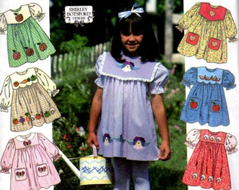 Simplicity 7091 Sewing Pattern - Sizes 2, 3, 4 - Design Your Own Easy Child's Dresses