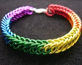 Bright Rainbow Chainmail Bracelet