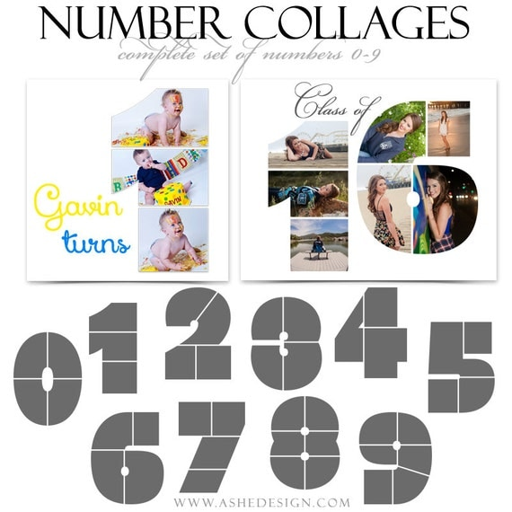 Photoshop collage layouts simply stated numbers 10 for Photo collage number templates
