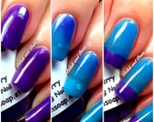 "Ombre Color Changing Thermal Nail Polish - ""Razzleberry""-Blue to Purple-Temperature Changing - 0.5 oz Full Sized Bottle"