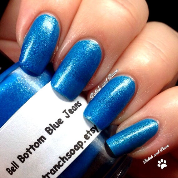 Neon Blue Nail Polish: Neon Blue Nail Polish Fluorescent Bell Bottom Blue