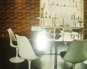1977 Decorating for Modern Living- A Practical, Room-by-Room Soucebooks Of Ideas-MID CENTURY