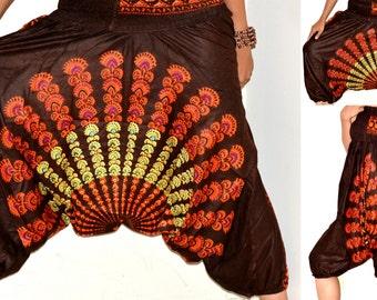 Harem pants/Mandala Harem /Hippie Pants/Gypsy Pants/Romper/ Genie pants/Yoga pant/Bohemian pants/wide leg pants/Chakra harem Pants/Jumpsuit