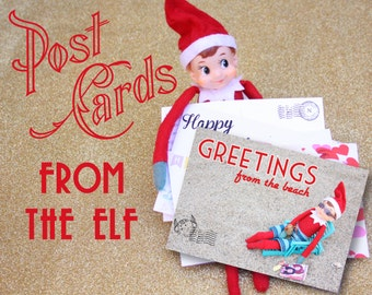 Printable Elf Post Card Set