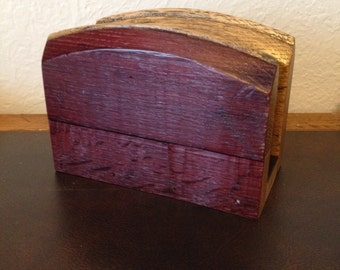 Barrel Head Napkin Holder