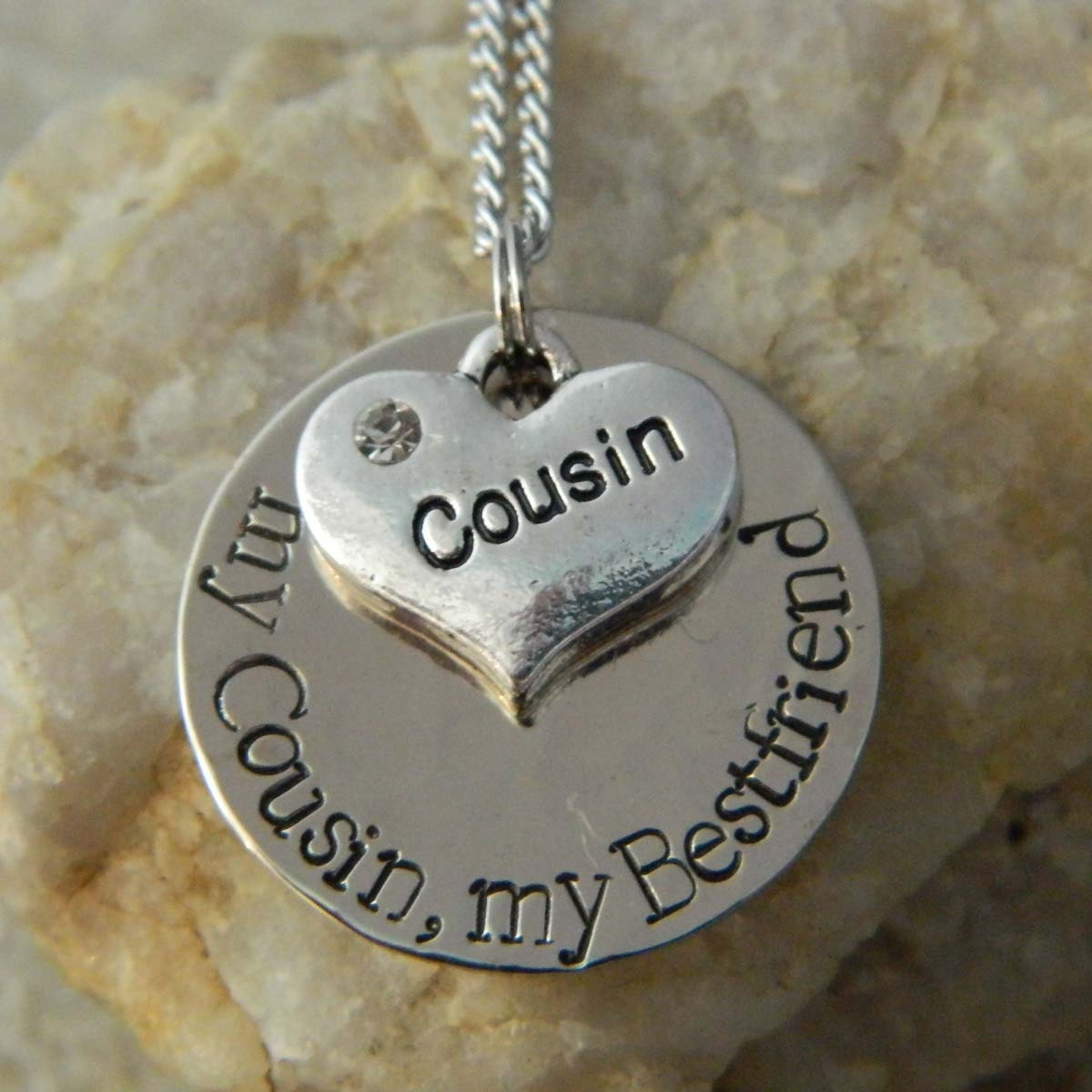 my cousin my bestfriend necklace by wirenwhimsy on etsy