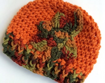Newborn girl 0-3 months baby hat beanie autumn fall theme boy infant hat baby photo prop Ready To Ship