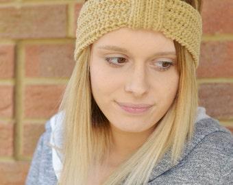 Lacey Headband Pattern Earwarmer Knitting Pattern Fits 6T - Adult No11