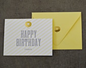 Happy Birthday Mom Greeting Card With Gold Foil Accent