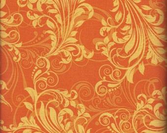 Orange Swirl (35114-9) - BTY - Windham