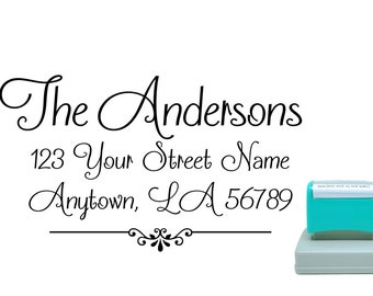 Personalized Self Inking Return Address Stamp - self inking address stamp - Custom Rubber Stamp R278