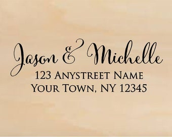 Personalized Self Inking Return Address Stamp - Custom Rubber Stamp R264
