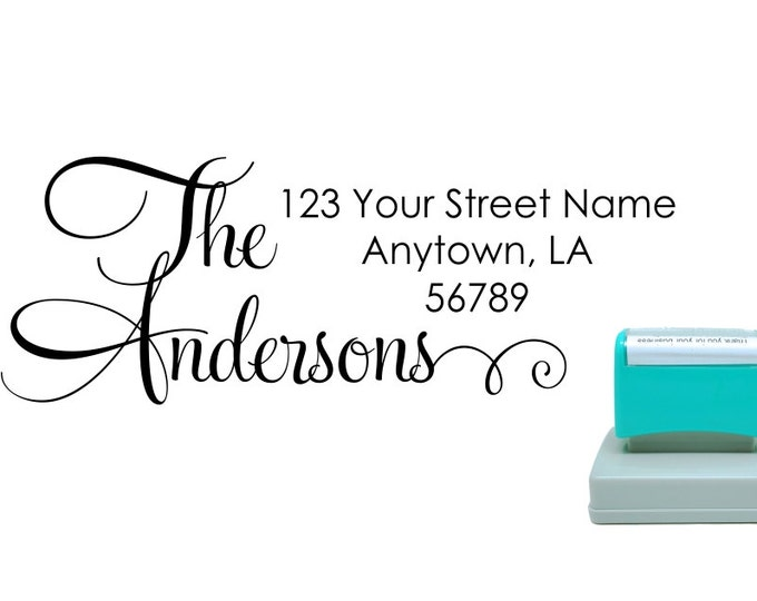 Personalized Self Inking Return Address Stamp - self inking address stamp - Custom Rubber Stamp R279
