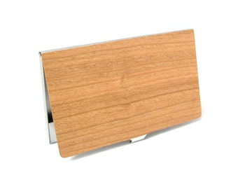 Cherry Wood Business Card Case