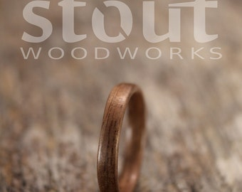 SIZE 6.5 - Classic Walnut Bentwood Ring - Handcrafted Wooden Ring