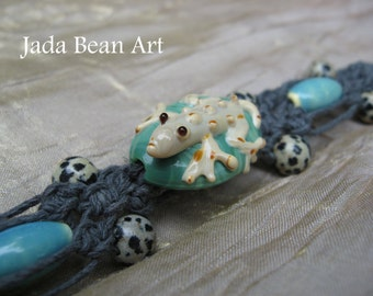 Lizard King Hemp Bracelet w/ Dalmation Jasper