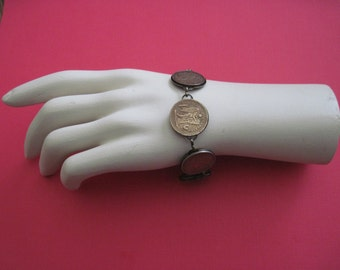 Bracelet Made From Vintage Coins