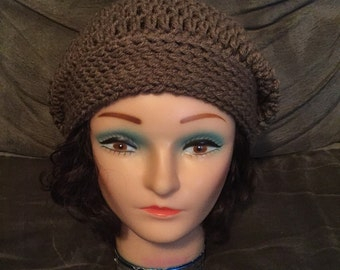 Maddi Slouch Hat in Cafe Latte Brown