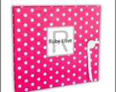 Hot Pink Baby Dot Baby Book - Modern Baby Memory Book