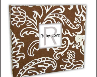 BABY BOOK | Serafina Chocolate Brown Floral Baby Book | Modern Baby Memory Book