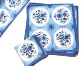 Royal Delftware Placemat Set 6 Napkins 6 Place Mats