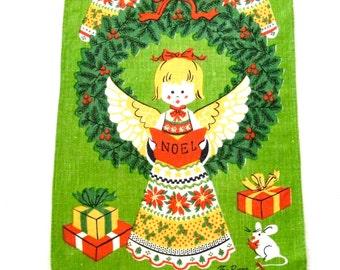 Christmas Linen Towel Choir Angels Noel Fallani Cohn
