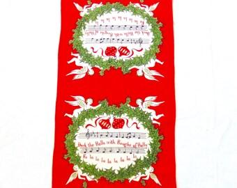 Tammis Keefe Christmas Towel Linen Deck the Halls
