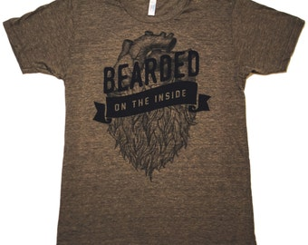 Beard Shirt - Bearded on the Inside Tri-Blend