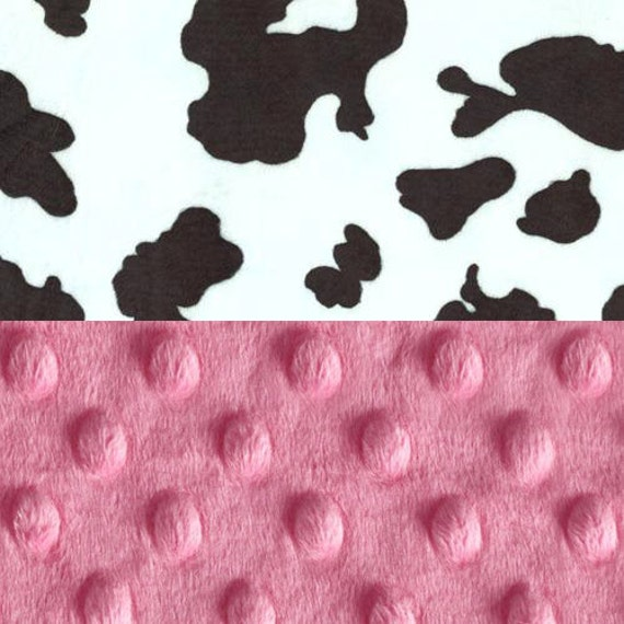 Baby Girl Personalized Baby Blanket, Pink Cow Baby Blanket, Receiving Blanket, Minky Baby Blanket, Baby shower gift, Monogrammed Blanket