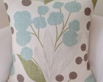 Blue Pillow Cover Decorative Throw Pillow Kravet Pillow Accent Pillow Cushion