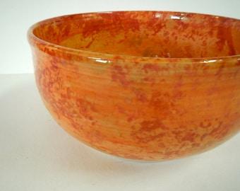 5C Tangerine Serving Bowl-stoneware baking bowl