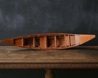 Vintage Wood Canoe Model Hand Made Canoe FromNowvintage on Etsy