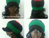 RBG Divine Being Crochet Cotton Cap and Earrings