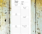 BE YOU Personal/Compact Daily Planner UNDATED Daily Inserts   > downladable digital printable< by Christy Tomlinson