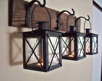Wrought Iron Bathroom Wall Sconces lantern pair wall decor 2 wall sconces housewarming gift