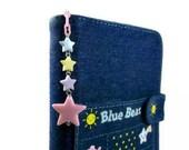 Planner Charm Kawaii Pastel Stars Planner Accessories Personal Organizer Cell Phone Charm Light Pink Yellow Blue Purple Dreamy Stars