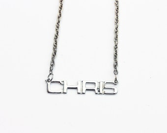 Vintage Name Necklace - Chris
