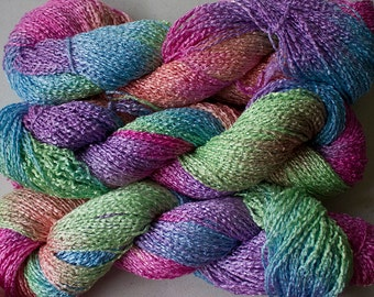 Finch, Hand-dyed Rayon Boucle Yarn, 225 yds -  Fiesta
