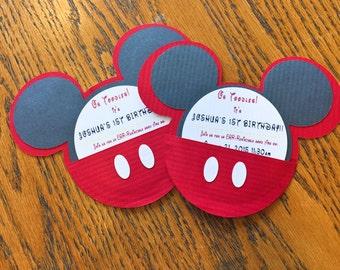 Mickey Disney Birthday Invitations 10 Pack