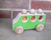 Wooden toy bus or van - a waldorf inspired toy car or truck