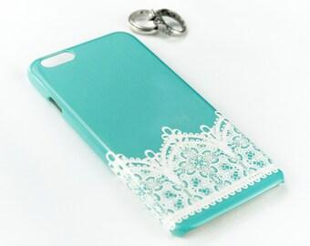 iPhone 6S Case, Robins Egg Blue Lace iPhone 5S Case, Vintage Lace Aqua iPhone 6 Plus Case Lace  , Wedding Blue
