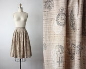 cello skirt / 50s skirt / 1950s skirt