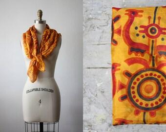 1950s indian silk scarf