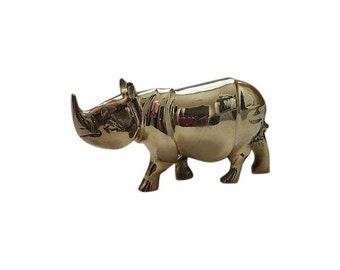 Vintage Solid Brass Rhino