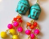Buddha Earrings - Buddha Jewelry - Boho Jewelry - Boho Earrings - Rainbow Jewelry - Good Karma Jewelry - Karma Jewelry - Spiritual Jewelry